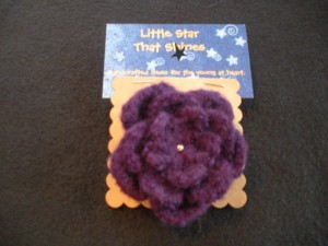 Purple felted